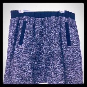 LOFT Gray and black wool skirt large